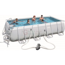 BESTWAY 56465 SWIMMING POOL WITH A CHASSIS POWER STEEL FRAME