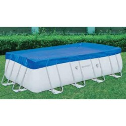 BESTWAY 58231 CLOTH TOP POOL COVER WITH FRAME-DIA. CM. 287X201