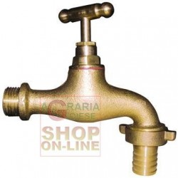 Valve BUTTERFLY BRASS HOSE connector 3/4 in.