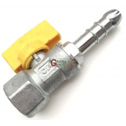 TAP the RIGHT BALL FOR fuel GAS, FEMALE / HOSE connector CIM