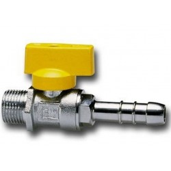 TAP the RIGHT BALL FOR fuel GAS, MALE / HOSE connector CIM 170
