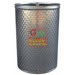 SANSONE STAINLESS STEEL CONTAINER BARREL WELDED LT 200