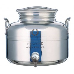 SANSONE STAINLESS STEEL CONTAINER LT. 5 WITH A TAP