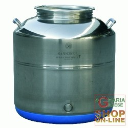 SANSONE STAINLESS STEEL CONTAINER LT. 15 LOW-MOD. EUROPE WELDED