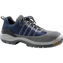 SHOE LOWER CRUST GREY SYNTHETIC FABRIC BLUE TOE CAP AND FOIL