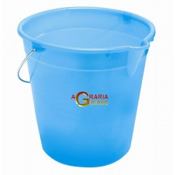 BUCKET WITH SPOUT WHITE LT.9