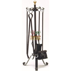 SERIES, TOOLS FOR FIREPLACE, WROUGHT IRON LARGE