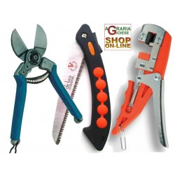 SET OF TWO OXEN SCISSORS DOUBLE CUTTING AND HACKSAW AND