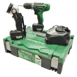 SET DRILL DRIVER HITACHI DS10DFL WITH 2 BATTERIES BATTERY
