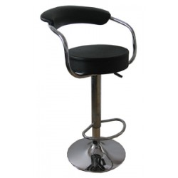 SWIVEL STOOL STRUCTURE IN CHROMED STEEL WITH FOOTREST ART.