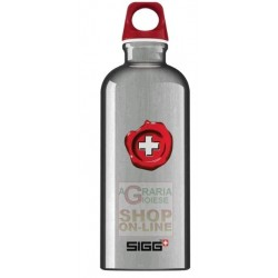 SIGG BOTTLE WATER BOTTLE ALUMINUM COLOR GRAY LT. 0,6