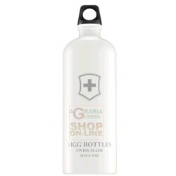 SIGG BOTTLE WATER BOTTLE ALUMINIUM SWISS EMBLEM TOUCH WHITE LT.