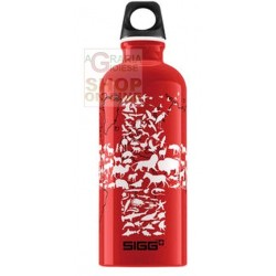SIGG BOTTIGLIA BORRACCIA IN ALLUMINIO SWISS SAVE THE