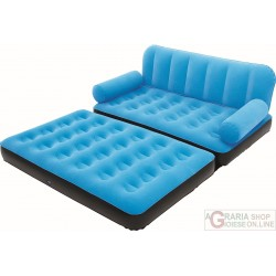 BESTWAY SOFA FLOCKED INFLATABLE CM.188X162X54 WITH THE PUMP