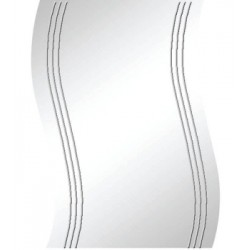 MIRROR IN THE BATHROOM SHAPED CM. 60X80