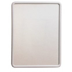 RECTANGULAR MIRROR WHITE CM.55X70H ART.522