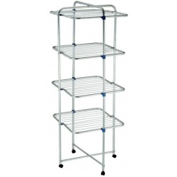 CLOTHES TOWER WITH 4 SHELVES IN ALUMINIUM AND the WHEELS 25