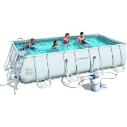 BESTWAY POOL POWER STEEL FRAME RECTANGULAR CM.488x274x122 MOD.
