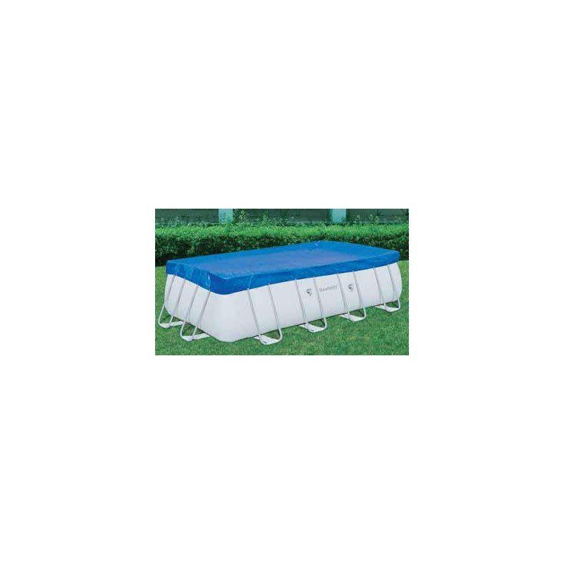 BESTWAY CLOTH TOP POOL COVER WITH FRAME-DIA. CM. 671X396 MOD.
