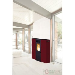 STUFA PELLET KING SLIM 6 BORDEAUX
