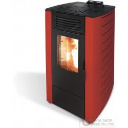 STUFA PELLET KW 10,0 KING12 BORDEAUX (118BKI)