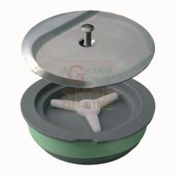 CAP FOR EXPANSION WITH HEAVY COVER, DIAM. 120 MM CHROME-PLATED