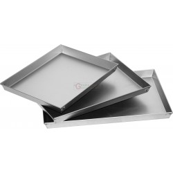BAKING PANS FOR PIZZAS, RECTANGULAR SET OF THREE PIECES