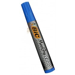 BIC PERMANENT MARKER PLASTIC DRUM WITH ROUND TOE COLOR BLUE