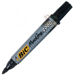 BIC PERMANENT MARKER PLASTIC DRUM WITH ROUND TOE COLOR BLACK