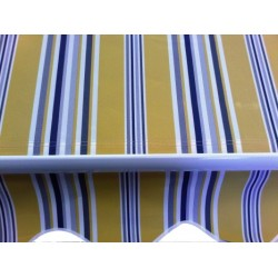 AWNING ARMS RETRACTABLE BLUE YELLOW