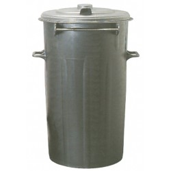 BIN BLACK WITH LID LT. 80