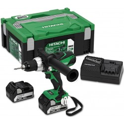 DRILL driver WITH PERCUSSION HITACHI DV18DSDL 18V 5Ah WITH 2