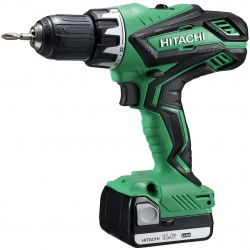 DRILL driver HITACHI DS14DJL WITH 2 BATTERIES BATTERY LI-ION