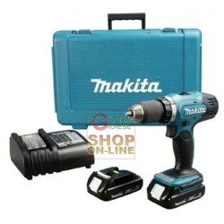 DRILL DRIVER MAKITA HP457DWE WITH 2 BATTERIES, 18 VOLT BATTERY