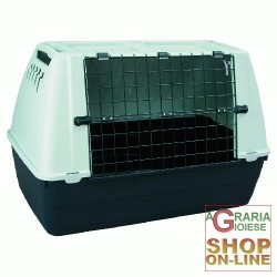 CARRIER RESIN FOR DOGS METAL GRILL CM. 88X51X58H.