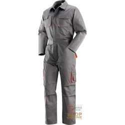 SUIT 65% POLYESTER 35% COTTON MULTIPOCKETS COLOR GREY ORANGE TG