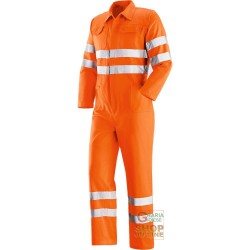 SUIT V-40% POLYESTER 60% COTTON BANDS RETRO-REFLECTIVE ORANGE