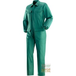 COVERALLS FLAME RETARDANT 100% COTTON GR 370 SQM COLOR GREEN TG