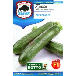 BISON SEEDS OF ZUCCHINI and PRESIDENT of F1 HYBRID