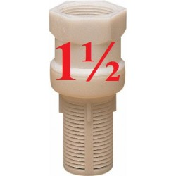 BOTTOM VALVE IN NYLON 1-1/2