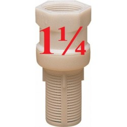 BOTTOM VALVE IN NYLON 1-1/4