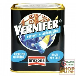 VERNIFER PAINT TO GEL WITH ANTI-RUST GLOSS BLACK ML. 750