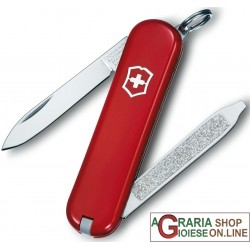 VICTORINOX CLASSIC ESCORT KNIFE KEYCHAIN MULTIPURPOSE COLOR RED