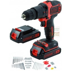BLACK AND DECKER TRAPANO A PERCUSSIONE CON 2 BATTERIE LITIO 18V