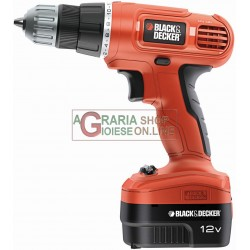 BLACK AND DECKER DRILL DRIVER BATTERY EPC12CAT22A 12V