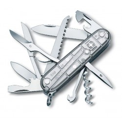 VICTORINOX HUNTSMAN SILVER TECH TRANSPARENT