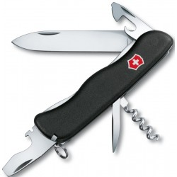 VICTORINOX MULTI-PURPOSE NOMAD BLACK WITH LOCK BLADE SAFETY