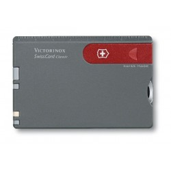 VICTORINOX SWISSCARD GRAY-RED