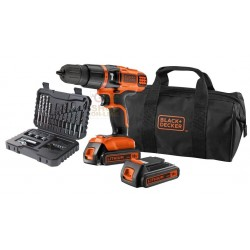 BLACK DECKER DRILL 18VP WITH 2 LITHIUM BATTERIES MOD.