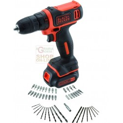 BLACK DECKER DRILL LITHIUM BATTERY CDD12AT-QW SET-50 10,8 V-1,5